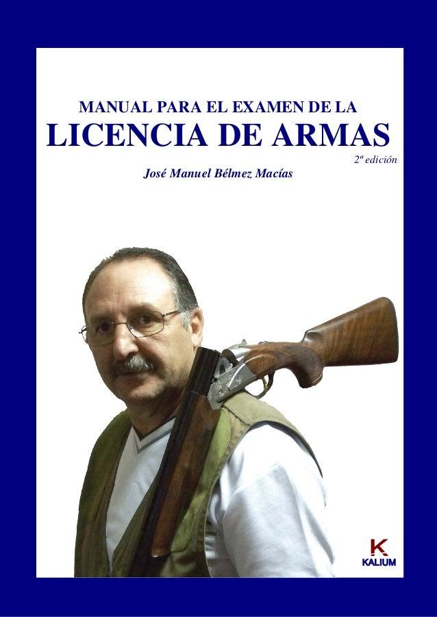 temario licencia arma: