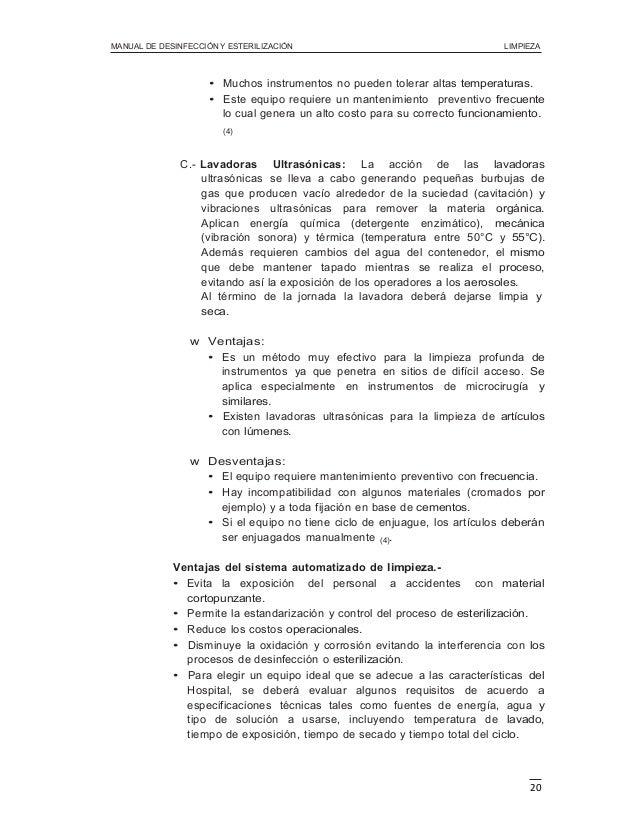 Manual limpieza y desinfeccion peru bioseguridad hospitalaria for Manual de limpieza y desinfeccion en restaurantes