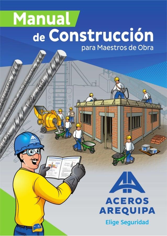 Manual maestro obra for Manual de construccion