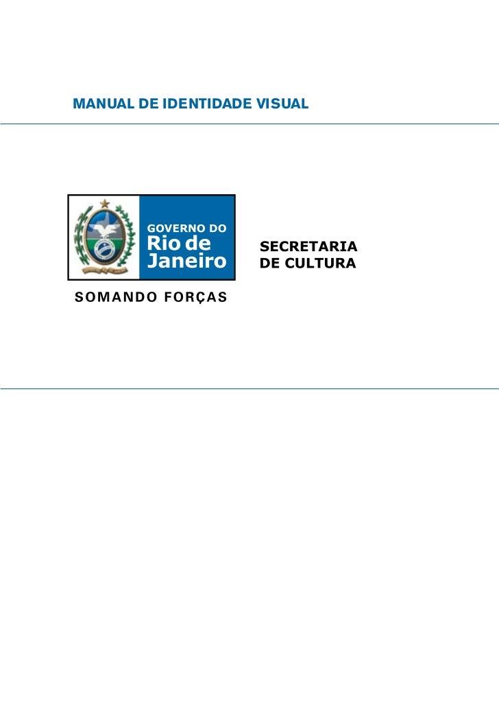 Manual de Identidade Visual do Governo do Estado do Rio de Janeiro