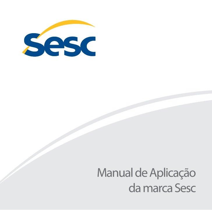 Manual de Aplicação da Marca SESC