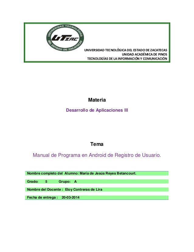 UNIVERSIDAD TECNOLÓGICA DEL ESTADO DE ZACATECAS UNIDAD ACADÉMICA DE PINOS TECNOLOGÍAS DE LA INFORMACIÓN Y COMUNICACIÓN Mat...