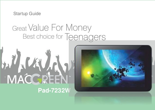 MacGreen Tablet PC MG- 7232W Startup Guide