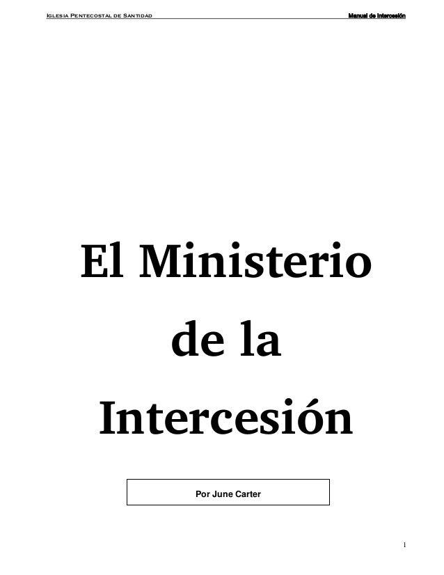 Manual ministerio intercesion for Ministerio de inter