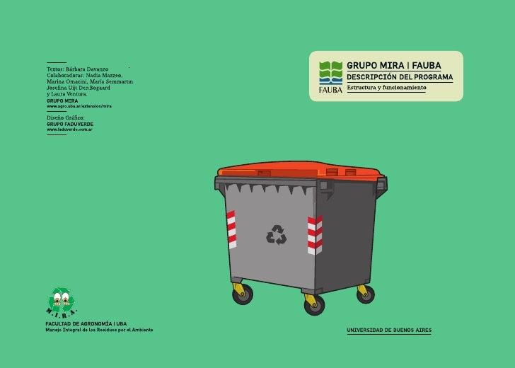 MIRA: Manejo Integral de los Residuos por el Ambiente - FAUBA