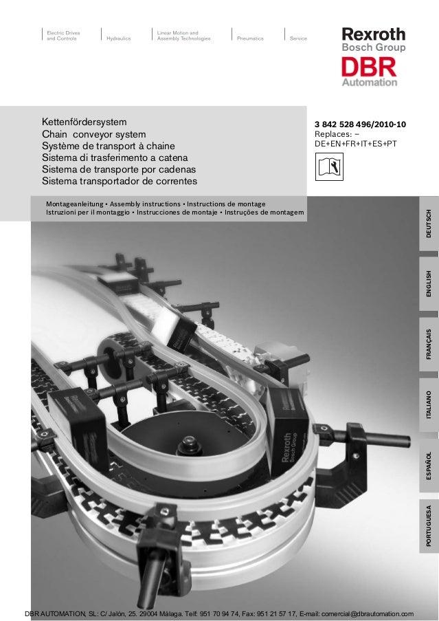 FRANÇAISDEUTSCHENGLISHPORTUGUÊSESPAÑOLITALIANO3 842 528 496/2010-10Replaces: –DE+EN+FR+IT+ES+PTMontageanleitung • Assembly...
