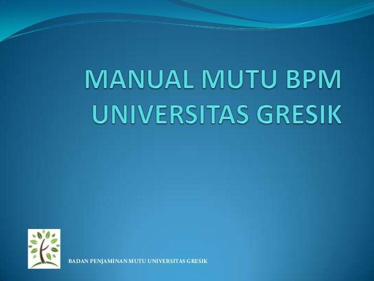 Manual mutu bpm pp