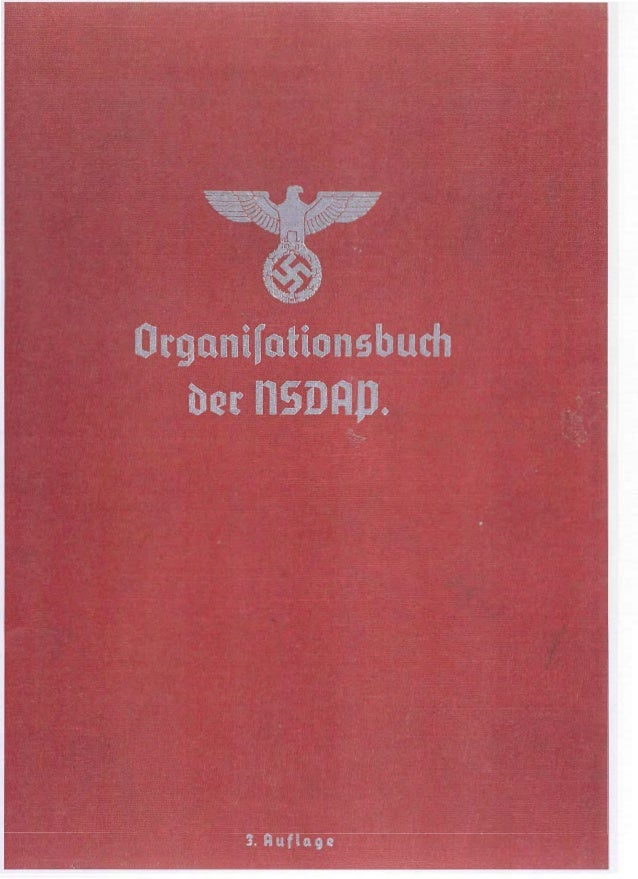 Parte 2/2 do Manual de Indentidade Visual Nazista / Organizationsbuch der NSDAP