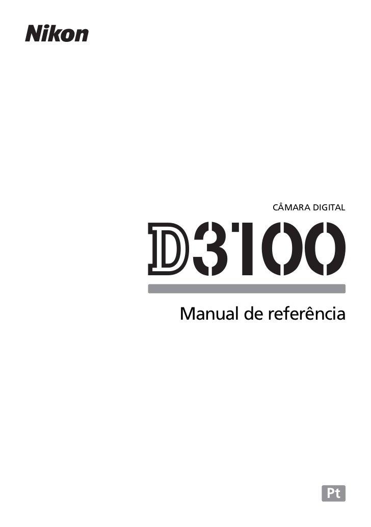 Manual Nikon D3100 em Português