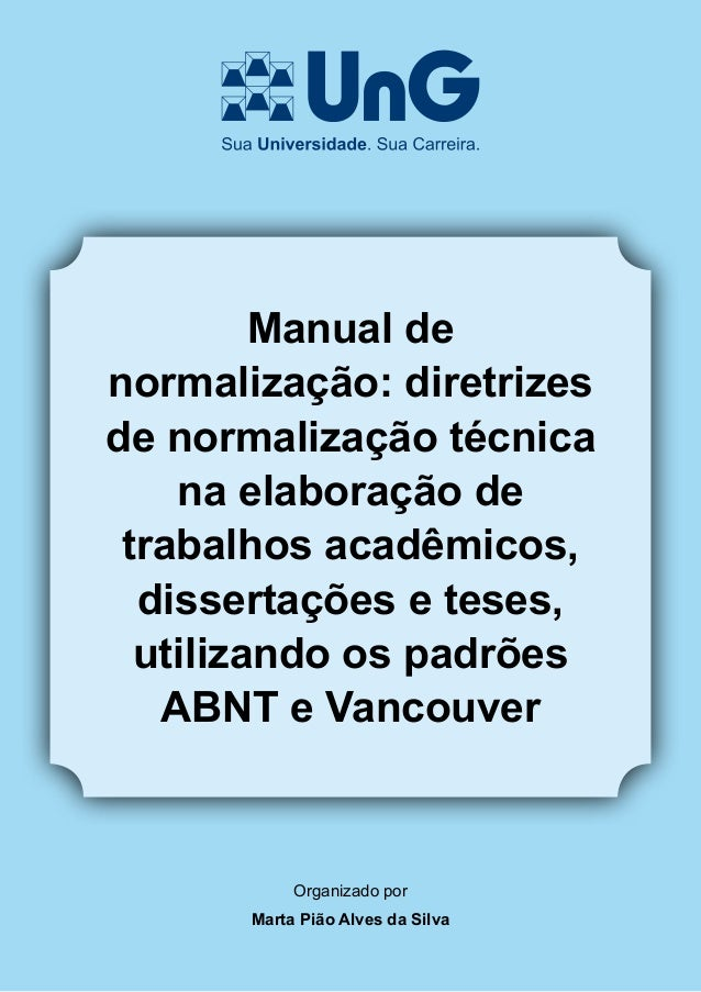 Manual normalizacao