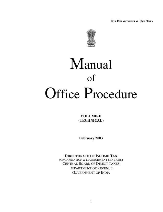 Manual of office procedure itd.bose