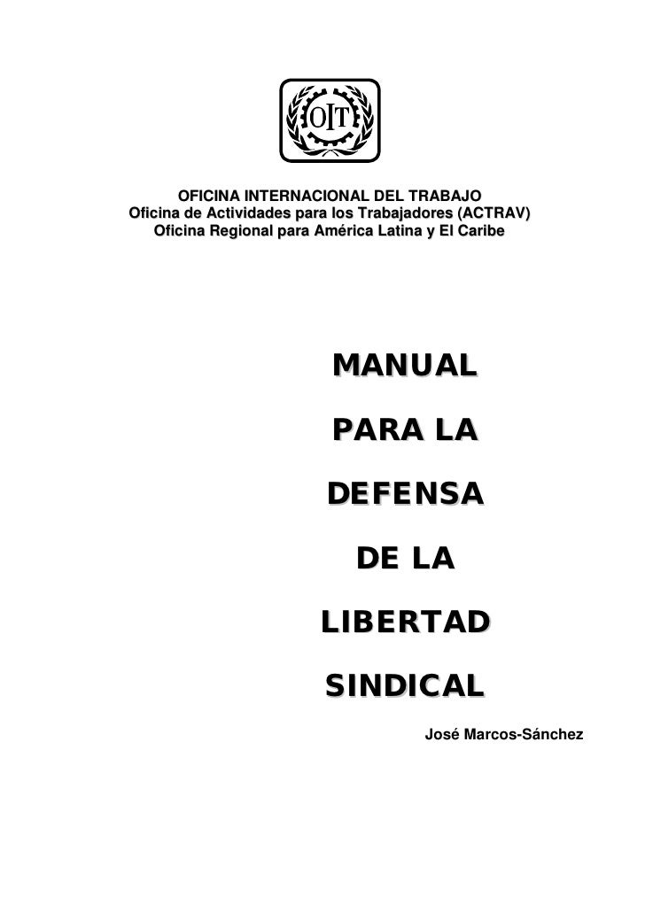 Manual oit defensa de la libertad sindical