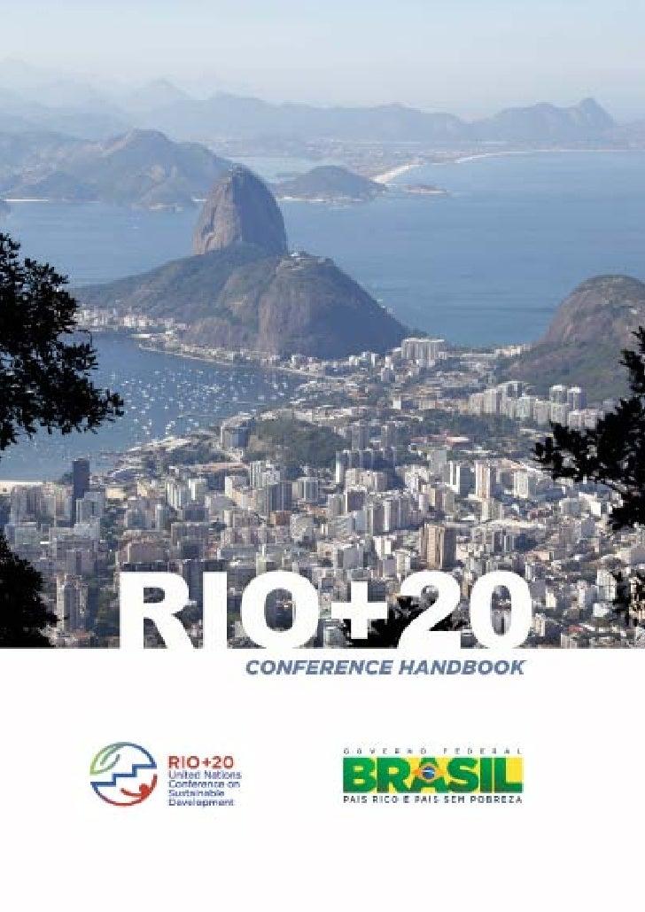 Rio+20 Conference Handbook