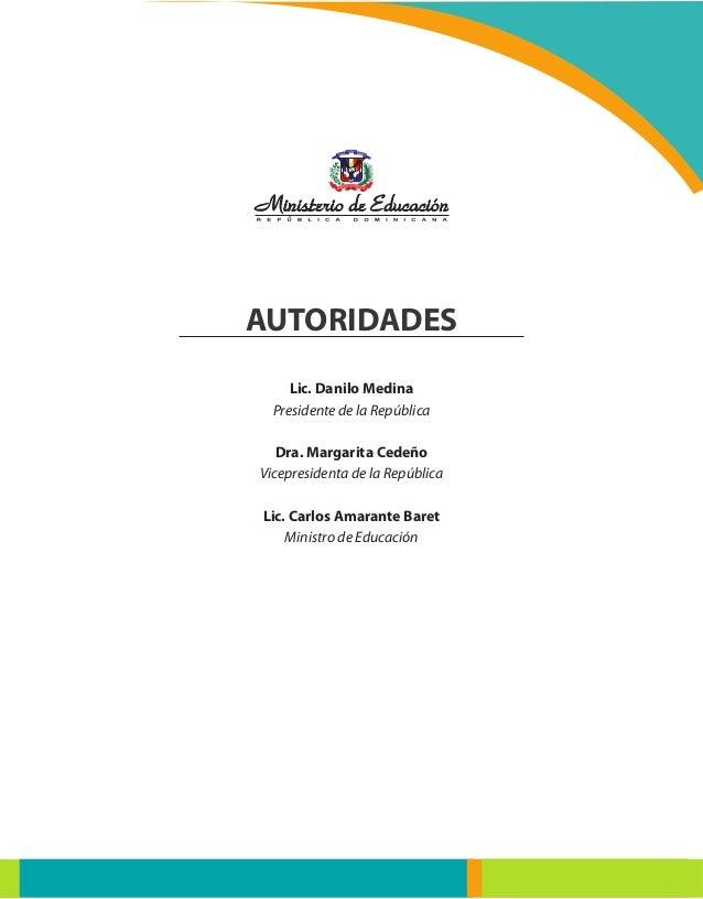 La Educación Dominicana: Manual Operativo de Escuelas