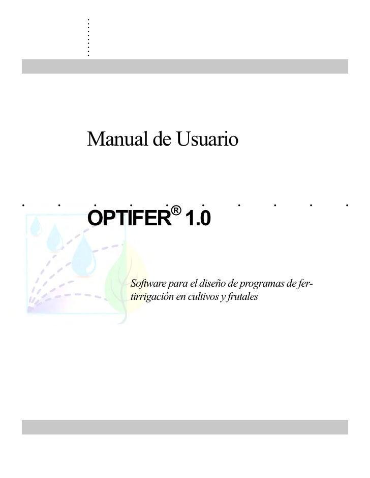 Manual Optifer 2