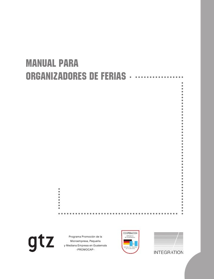 MANUAL PARAORGANIZADORES DE FERIAS                                         COOPERACION                                    ...