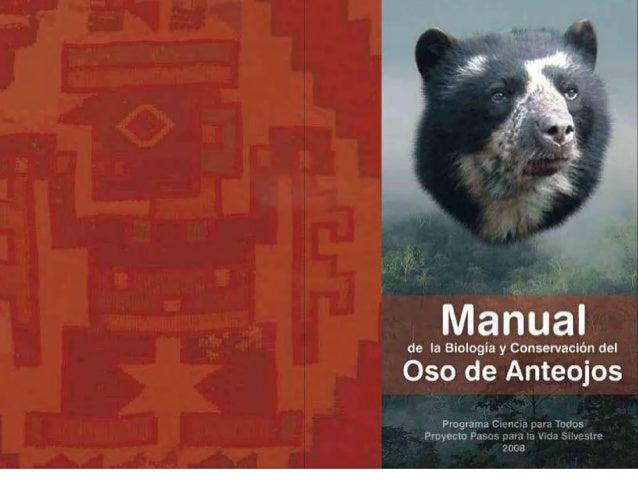 manual oso de anteojos