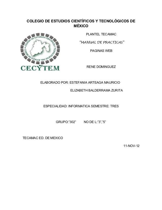 COLEGIO DE ESTUDIOS CIENTÍFICOS Y TECNOLÓGICOS DE                       MÉXICO                                  PLANTEL TE...