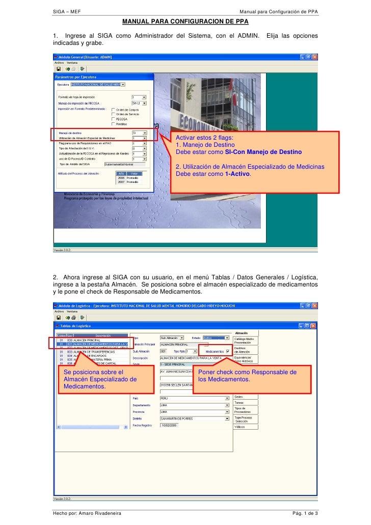 SIGA – MEF                                                        Manual para Configuración de PPA                        ...