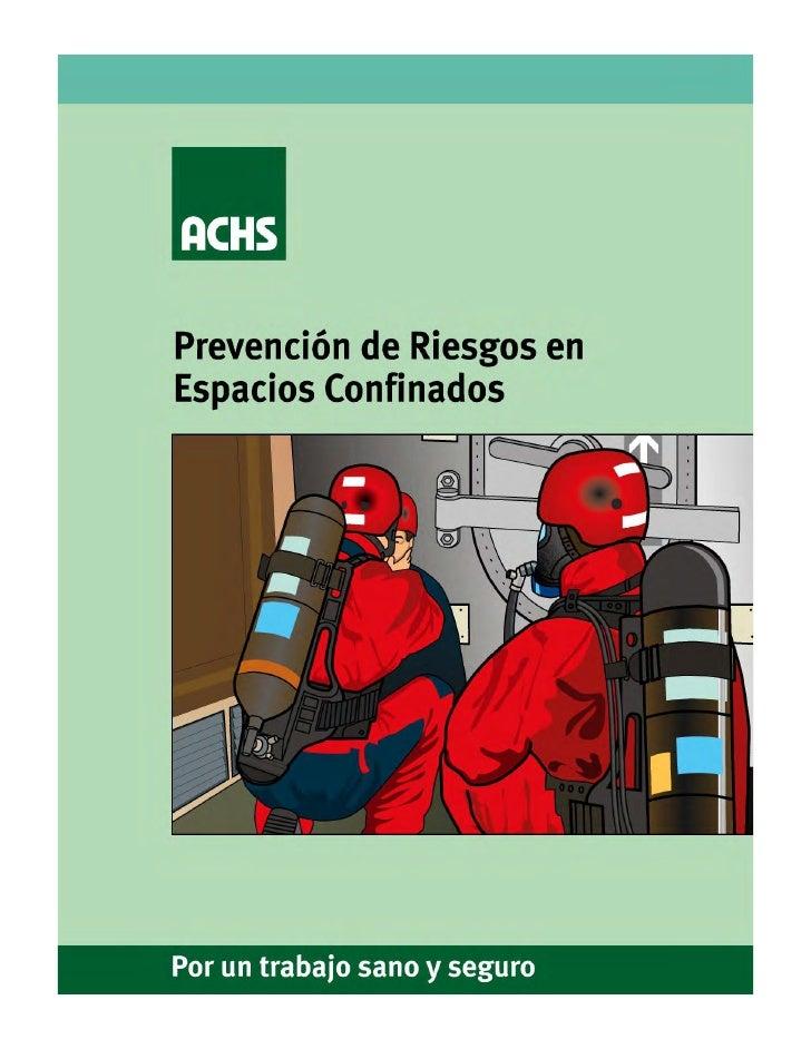 Manual para espacios confinados