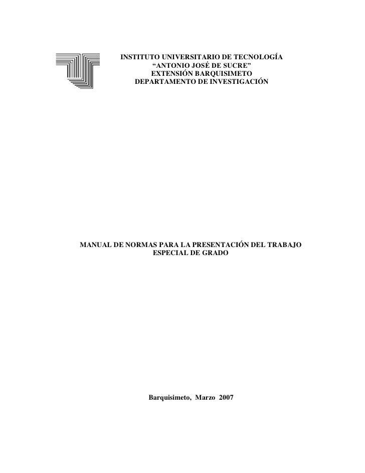 Manua para la construccion del trabajo de grado 2007(2)