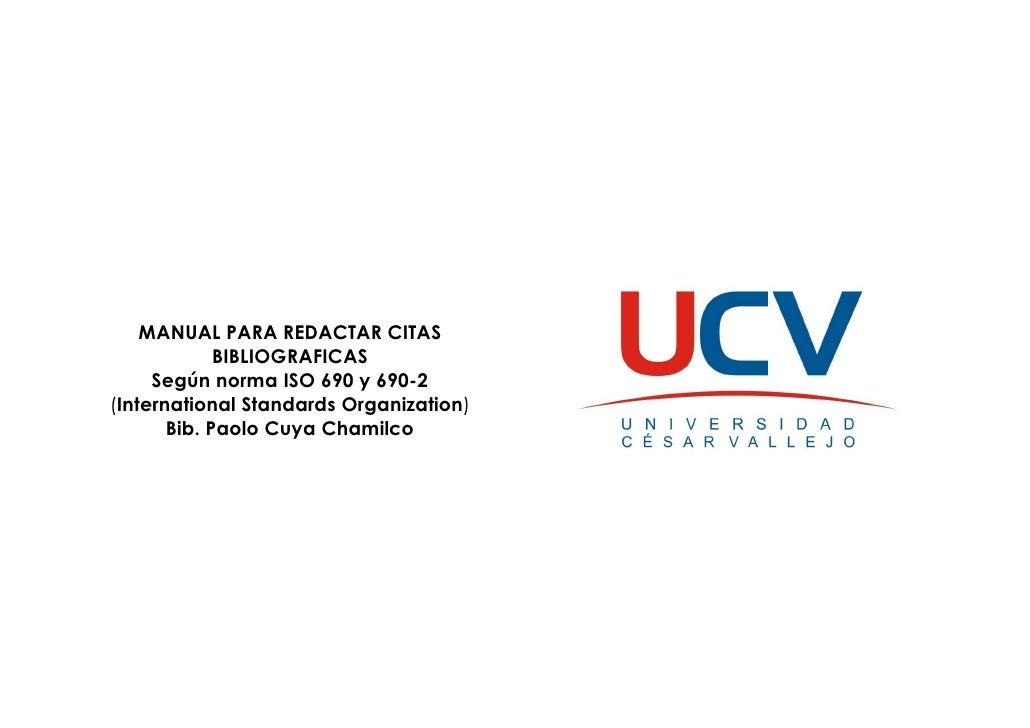 Manual Para Redactar Citas Bibliograficas Ucv