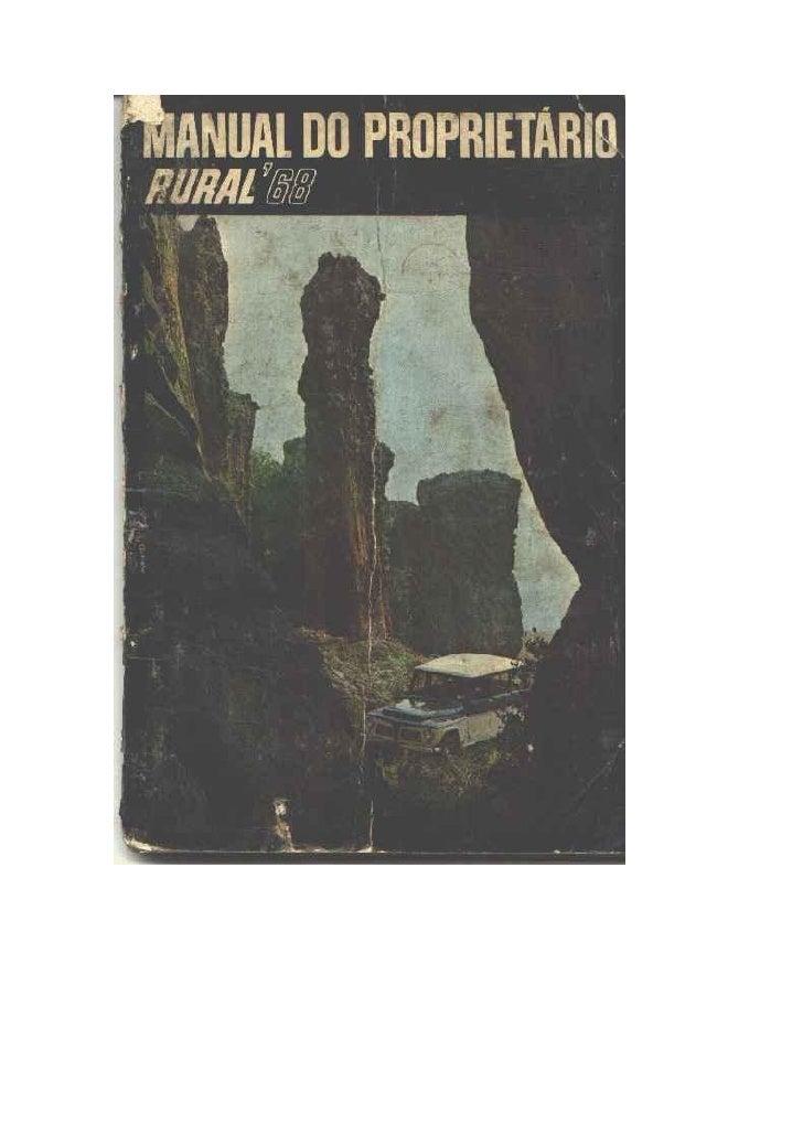 Manual parcial da Rural 1968