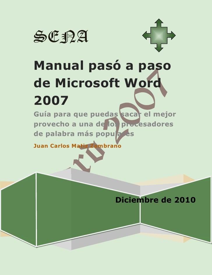 Manual pasó a paso de microsoft word 2007
