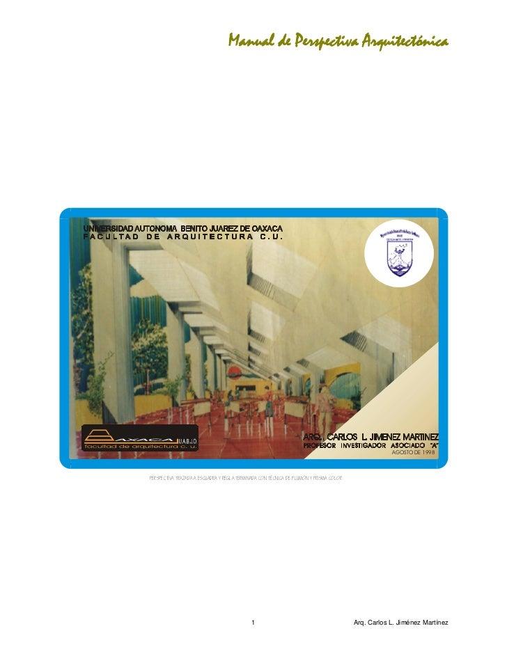 Manual de Perspectiva Arquitectónica                      Portada interior                                                ...