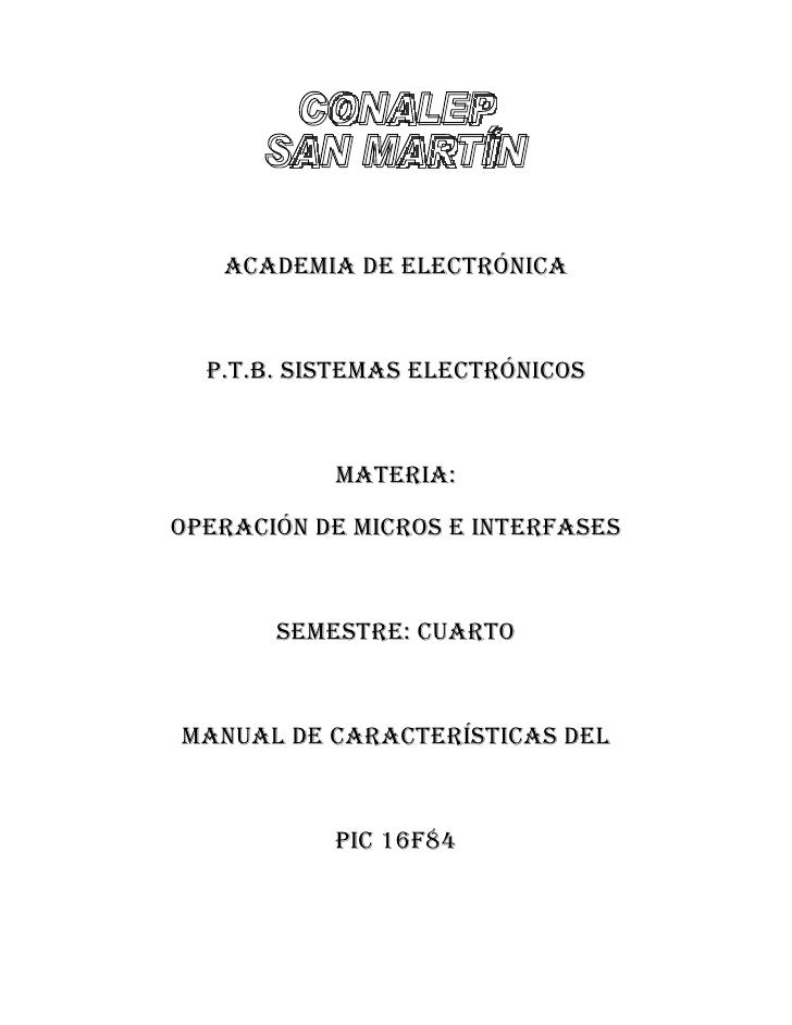Manualpic16 F84