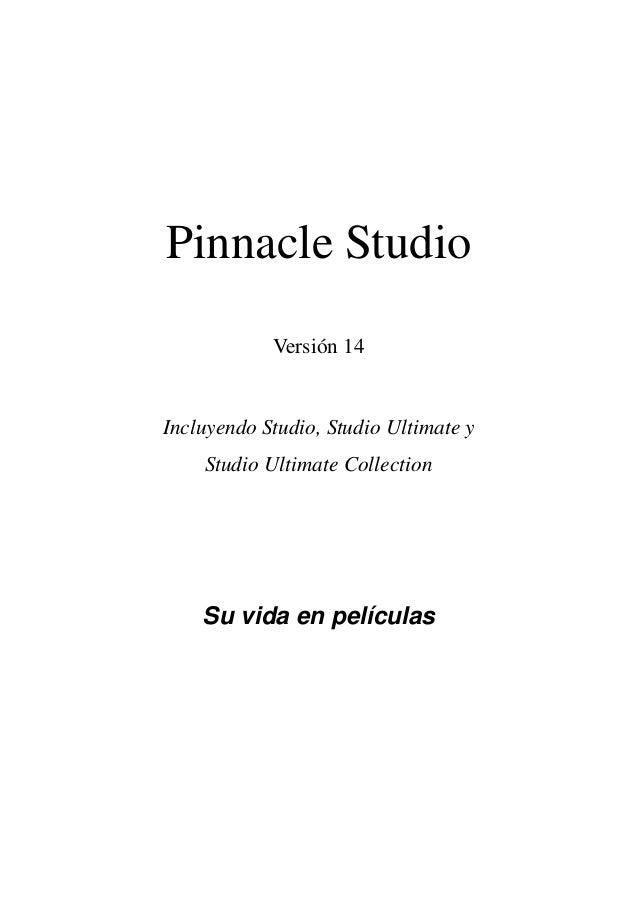 Manual pinnacle studio