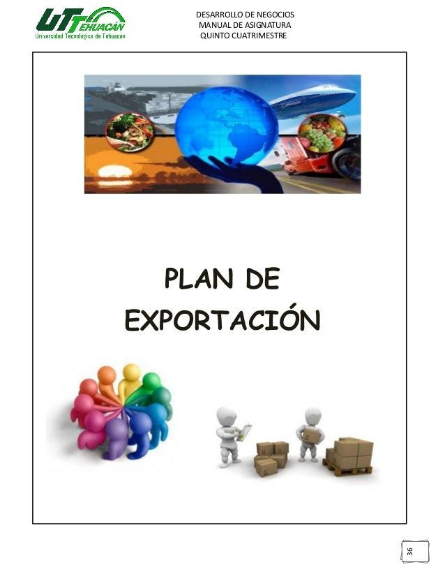 Manual plan de exportación 5to cuatrimestre