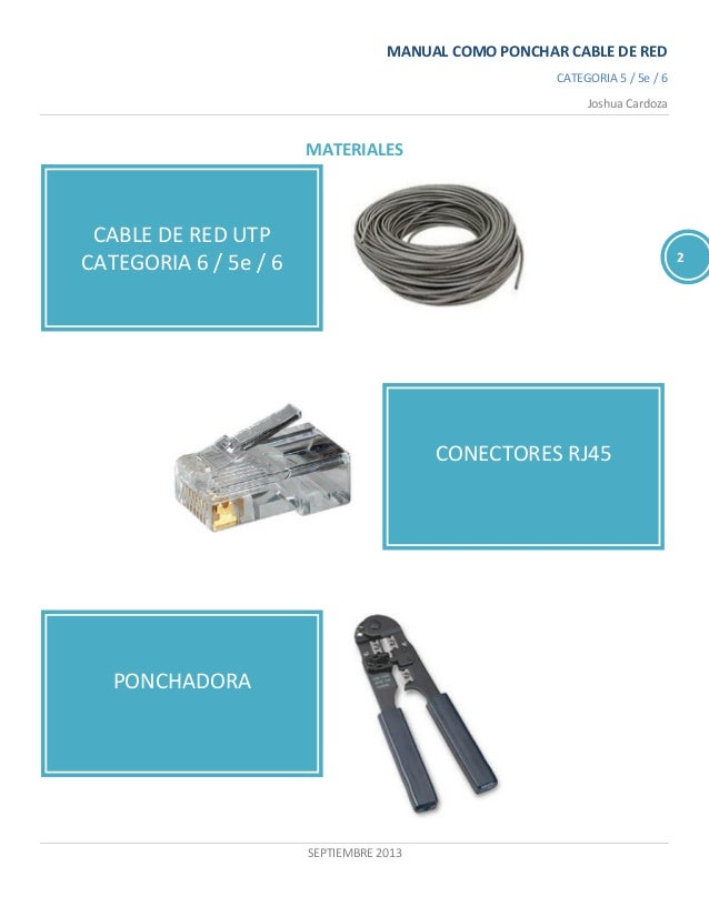 Manual ponchar cable red - Cable ethernet categoria 6 ...