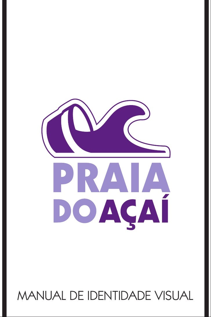 Manual de Marca - Praia do Açaí