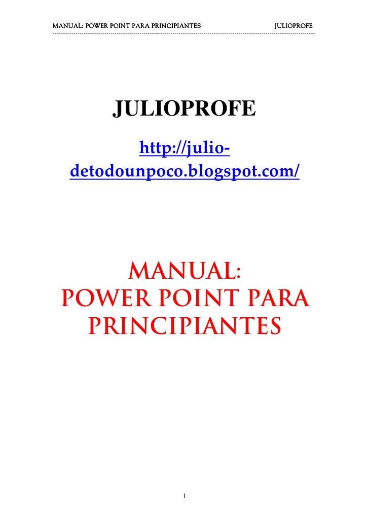 Manual Power Point para principiantes