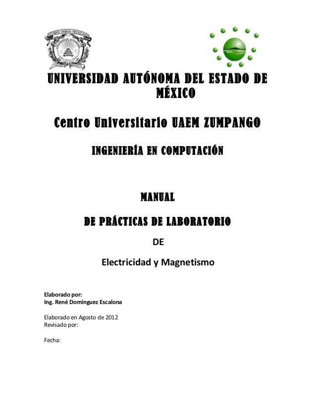 Manual practicas Electricidad y magnetismo