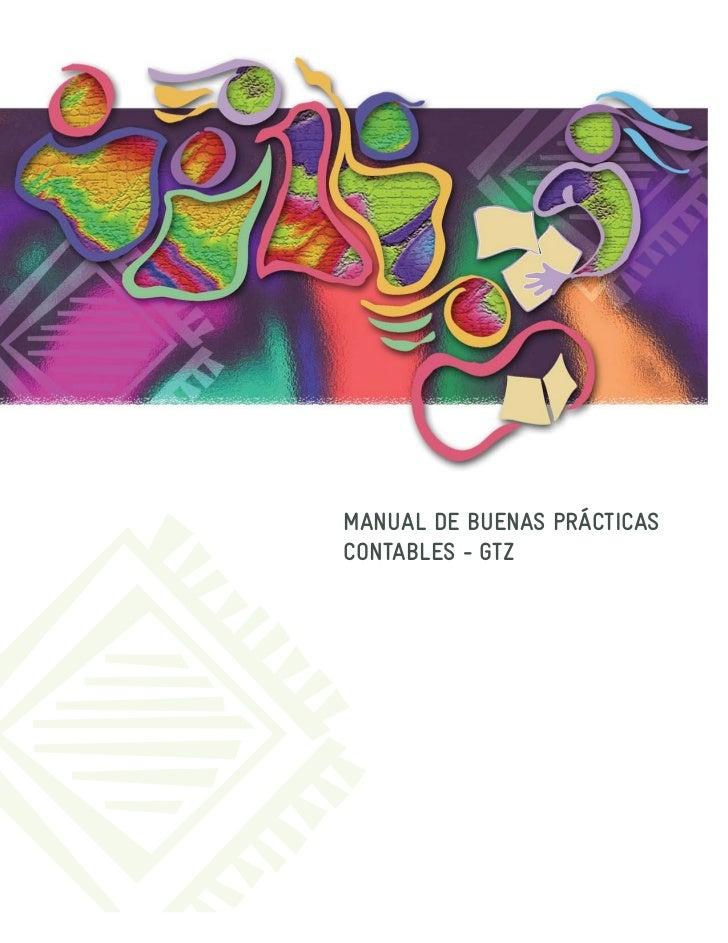 MANUAL DE BUENAS PRÁCTICASCONTABLES - GTZ