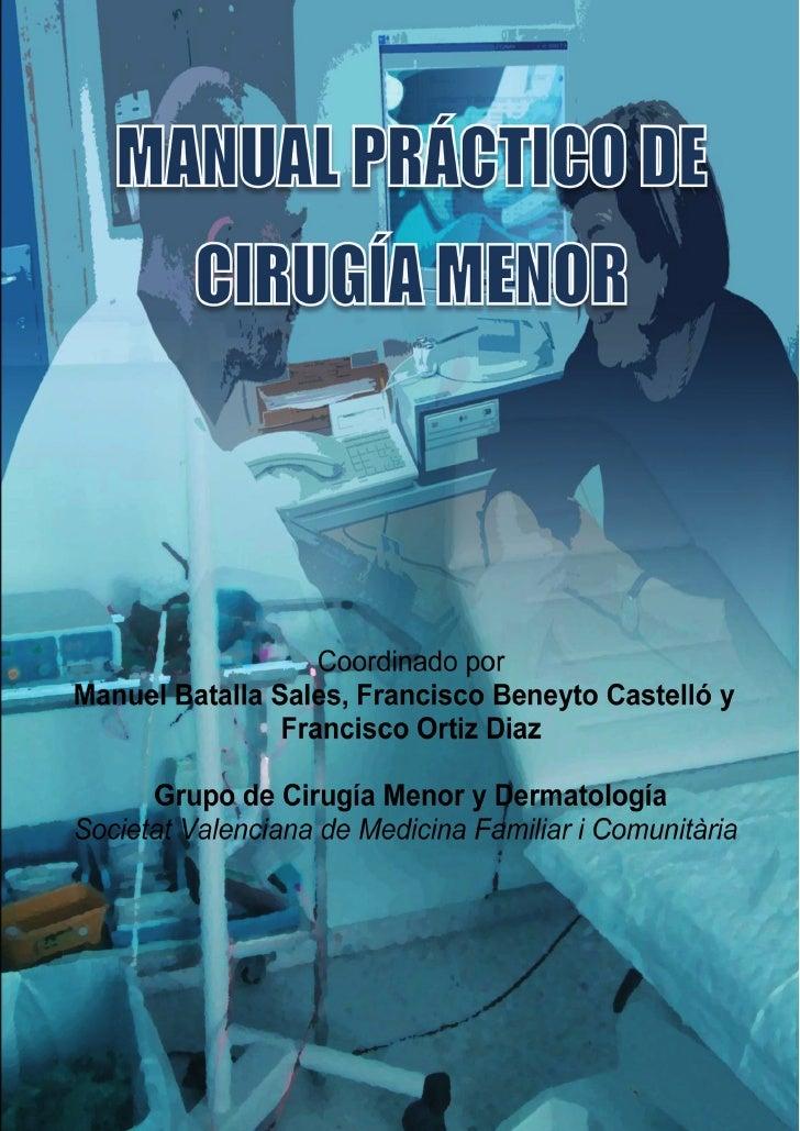 Manual práctico de cirugía menor