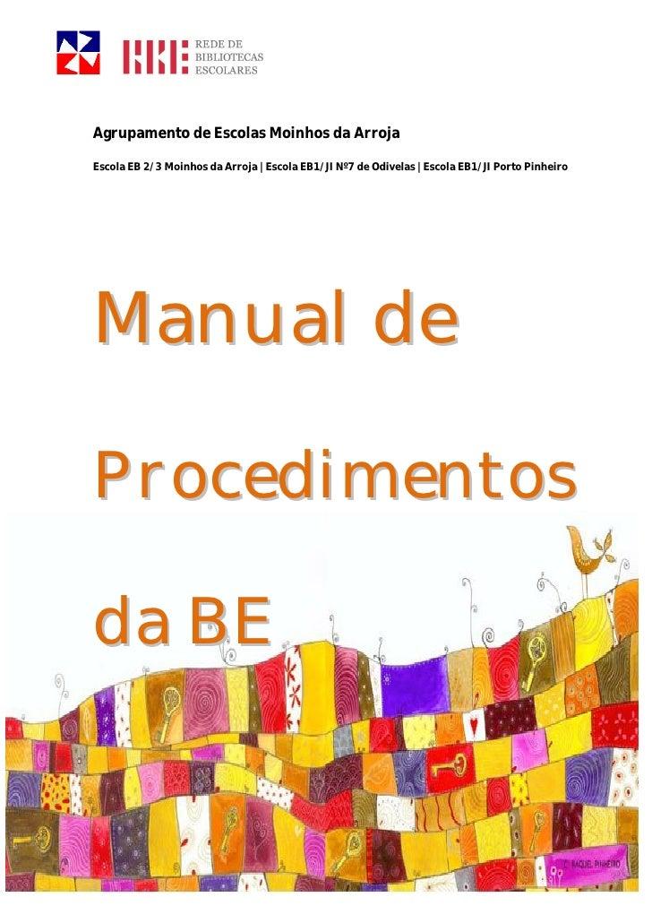 Manual procedimentos da BE