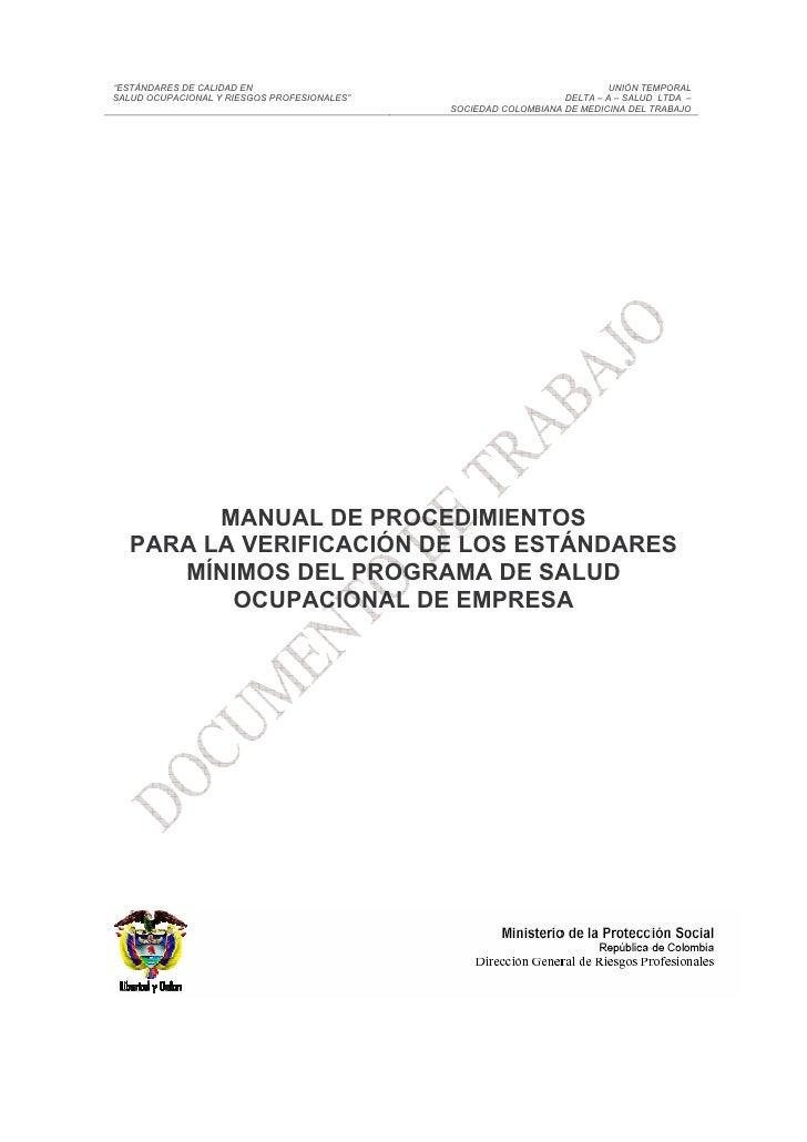 Manual procedimientos y estandares pso