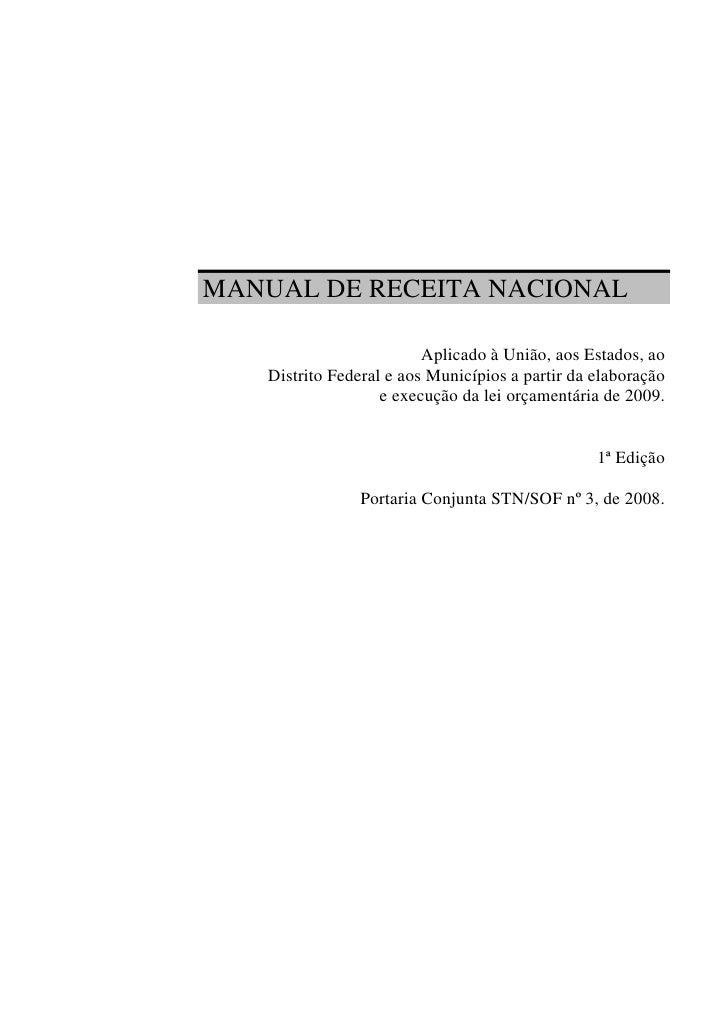 Manual receita nacional