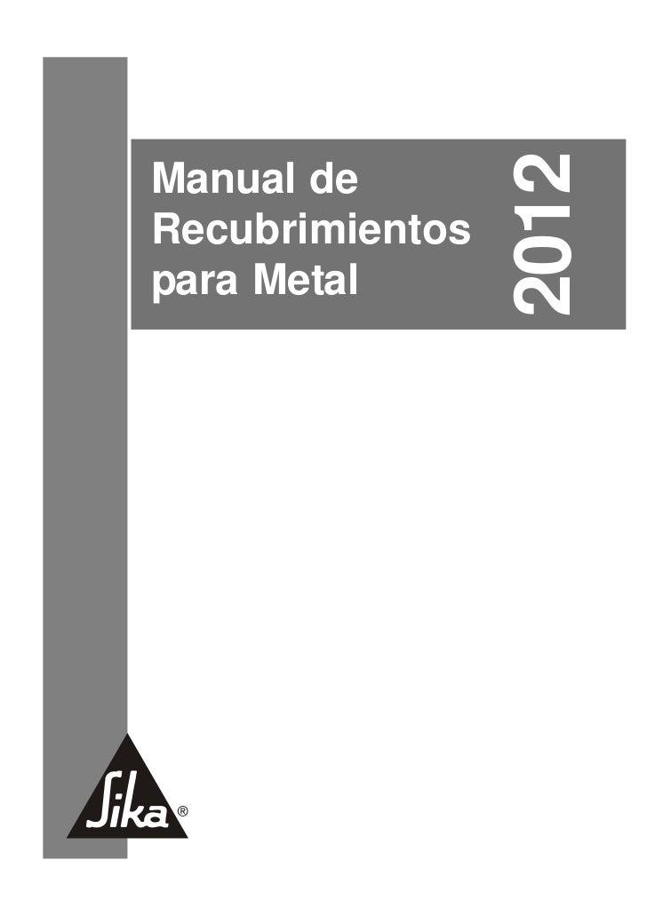 Manual recubrimientos 2012