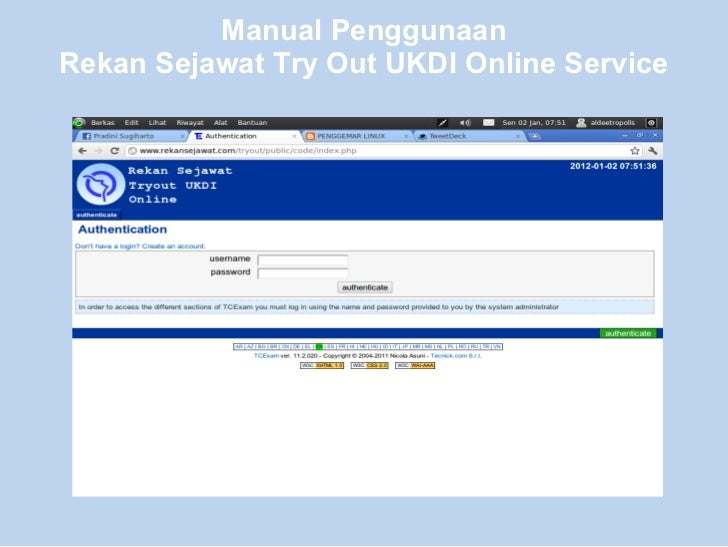 Manual PenggunaanRekan Sejawat Try Out UKDI Online Service