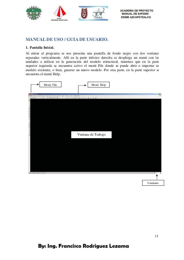 Francisco Rodriguez Lezama Manual sap 2000 esime azc