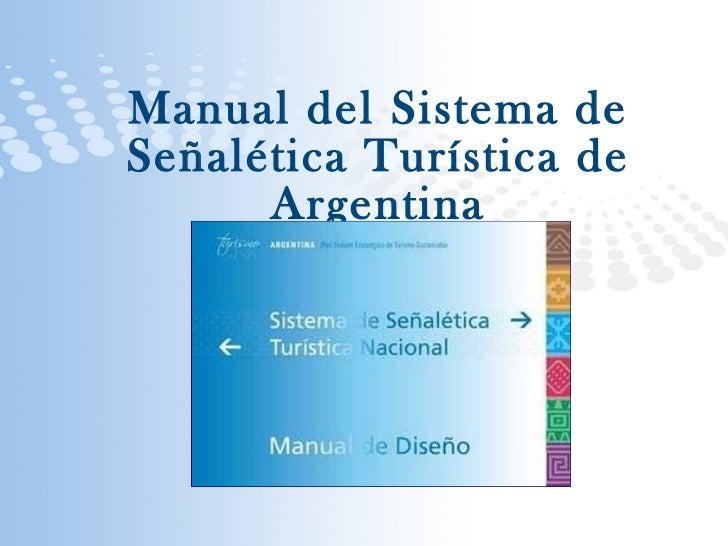 Manual sistema señaletica de turismo Argentina
