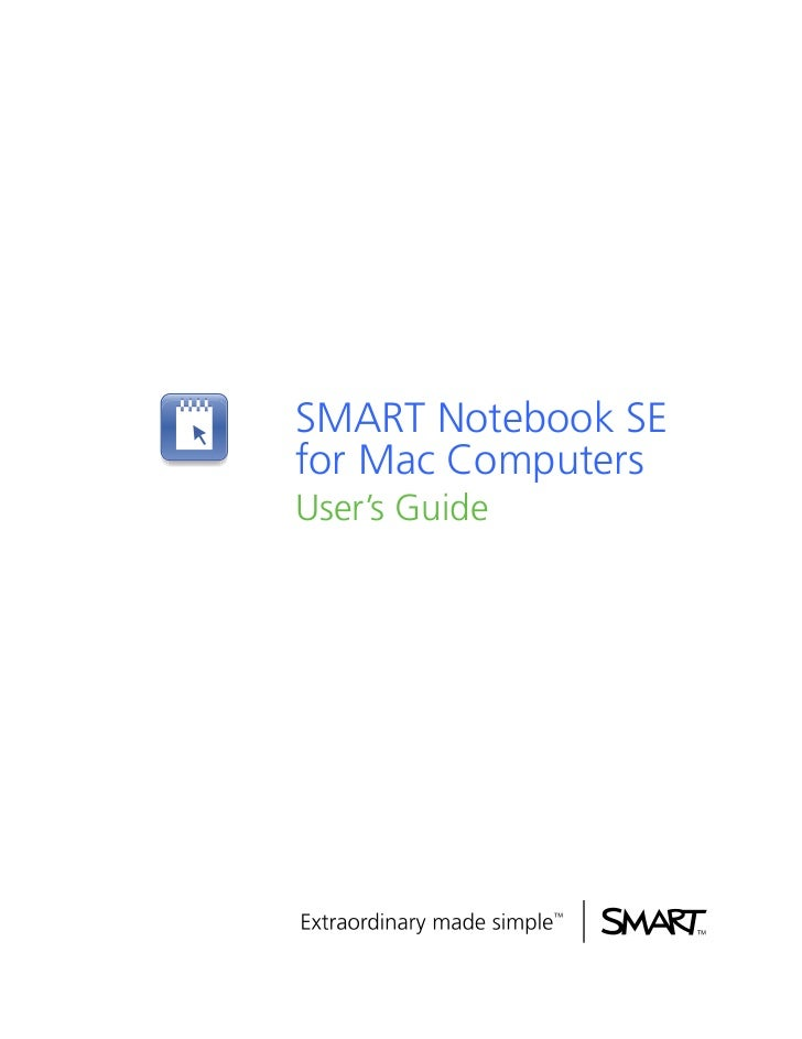Manual smart notebook se mac