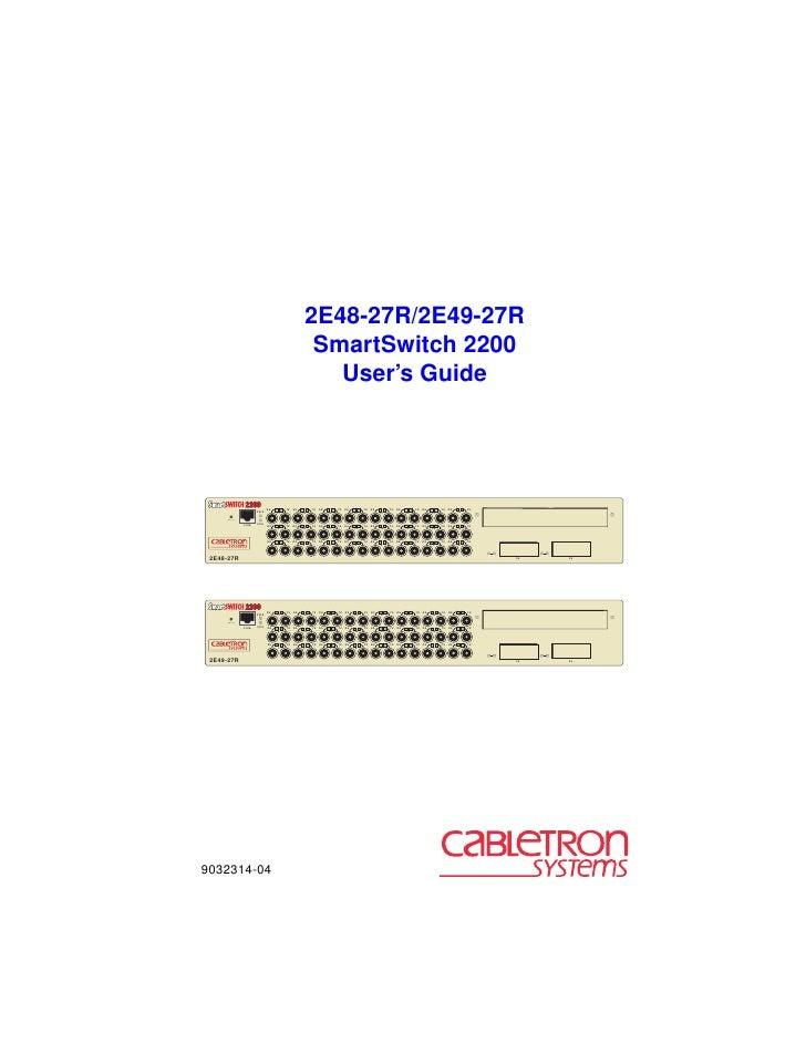 2E48-27R/2E49-27R                                                SmartSwitch 2200                                         ...