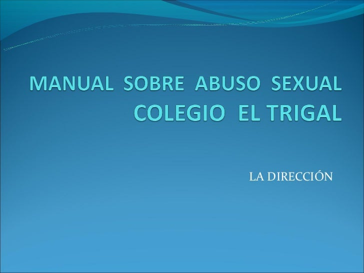 Manual  sobre  abuso  sexual  final