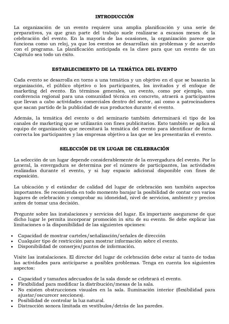 Manual sobre la organizaci n de eventos for Manual de restaurante pdf