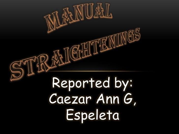 Reported by:Caezar Ann G,  Espeleta